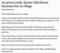 Banana prices crashed